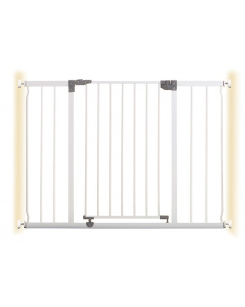 LIBERTY XTRA-WIDE HALLWAY SECURITY GATE WITH SMART STAY-OPEN FEATURE - WHITE