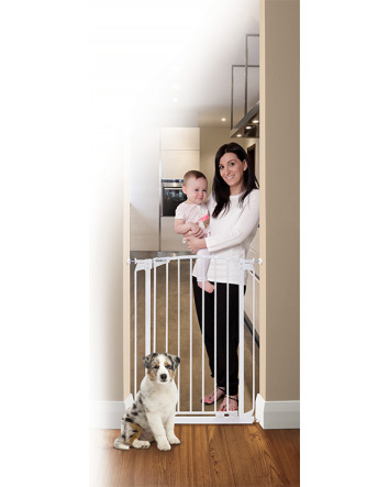 ZOE EXTRA-TALL AUTO CLOSE PET SECURITY GATE- WHITE
