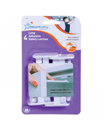 ADHESIVE SAFETY LATCHES - LONG (4 PK)