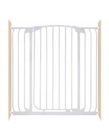 CHELSEA XTRA-TALL & XTRA-WIDE HALLWAY AUTO-CLOSE SECURITY GATE WHITE