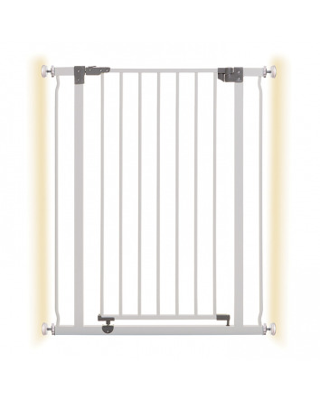 LIBERTY XTRA-TALL SECURITY GATE WITH SMART STAY-OPEN FEATURE WHITE