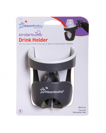 STROLLERBUDDY® DRINK HOLDER -GREY/CREAM TRIM