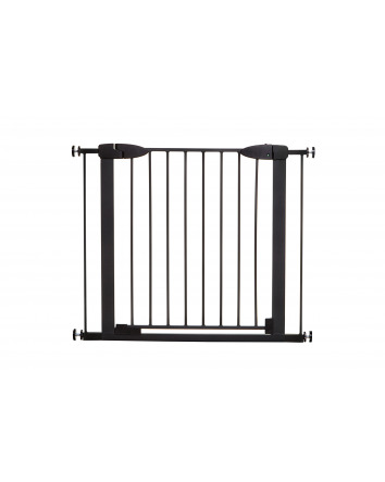 BOSTON MAGNETIC AUTO-CLOSE SECURITY GATE - BLACK WITH 2 x 7CM EXTENSIONS