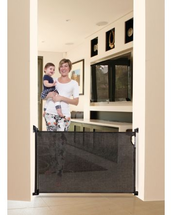 RETRACTABLE GATE BLACK - FITS OPENINGS UP TO 140cm