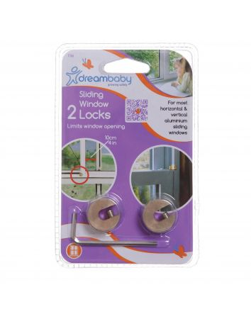 BRASS SLIDING WINDOW LOCKS - 2 PACK & 1 KEY