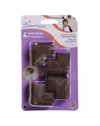 FOAM CORNER PROTECTORS 4 PK - BROWN
