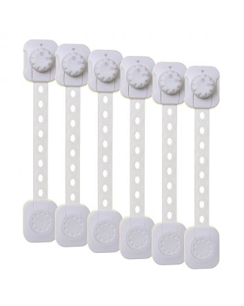 TWIST 'N LOCK MULTI-PURPOSE LATCH 6PK WHITE