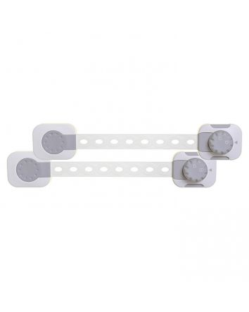 TWIST 'N LOCK MULTI-PURPOSE LATCH 2PK WHITE/GREY