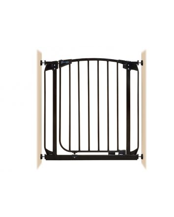 CHELSEA AUTO-CLOSE SECURITY GATE BLACK