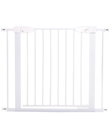 BOSTON MAGNETIC AUTO-CLOSE SECURITY GATE - WHITE WITH 2 x 7CM EXTENSIONS