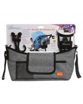 ON-THE-GO STROLLER KIT - GREY DENIM