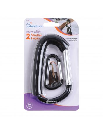 STROLLER HOOK - 1 LARGE & 1 SMALL, 2PK (LONG FOAM)