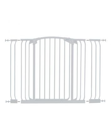 CHELSEA XTRA-TALL & XTRA-WIDE WHITE GATE EXTENSION SET (1 GATE 2 EXTENSIONS)