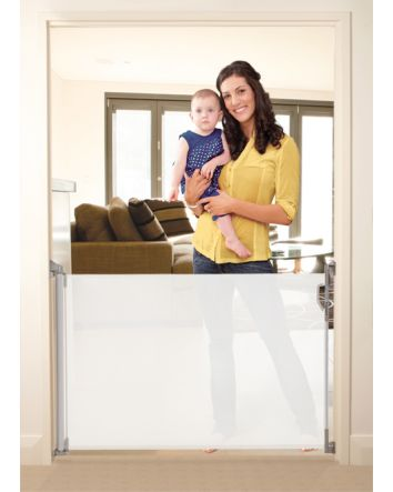 RETRACTABLE GATE WHITE - FITS OPENINGS UP TO 140cm