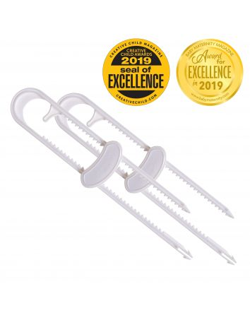 SLIDING LOCKS WITH CATCH 2 PACK - WHITE